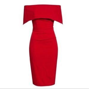 Vince Camuto Red Popover Midi Dress Size 4